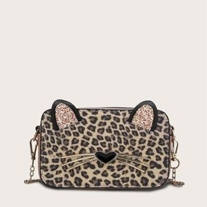 Handbags - Leopard Kitty Cat Ears Bag
